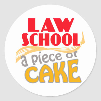 Law School - Piece of Cake Round Sticker
