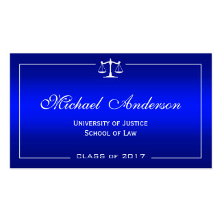 Law School Student - Classy Plain Blue Gradient Pack Of Standard Business Cards