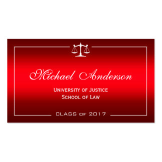 Law School Student - Stylish Plain Red Gradient Pack Of Standard Business Cards