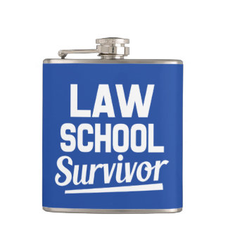 Law School Survivor funny flask