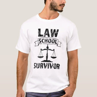 Law School Survivor funny mens attorney shirt