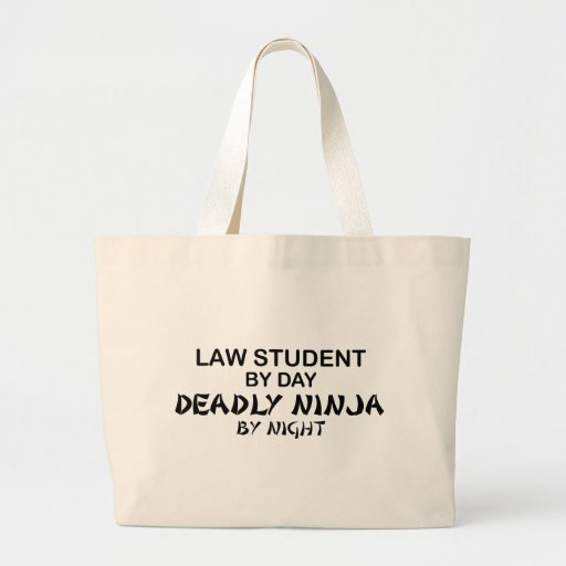 Law Student Deadly Ninja Canvas Bag