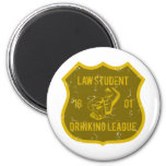 Law Student Drinking League 6 Cm Round Magnet