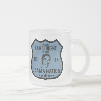 Law Student Obama Nation Frosted Glass Mug