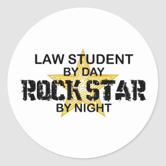 Law Student Rock Star Round Sticker