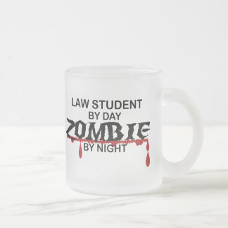 Law Student Zombie Frosted Glass Mug