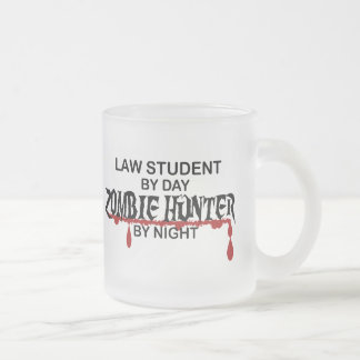 Law Student Zombie Hunter Frosted Glass Coffee Mug
