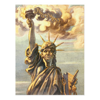 Lawless Lady Liberty Postcard
