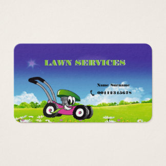Lawn and landscaping business card