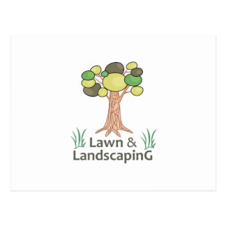 LAWN AND LANDSCAPING POSTCARD