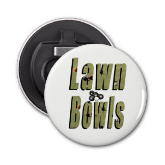 Lawn Bowl Dimensional Logo, Bottle Opener. Bottle Opener