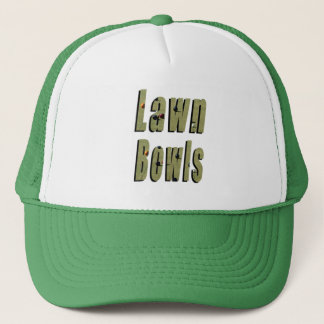 Lawn Bowl Dimensional Logo, Trucker Hat