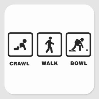 Lawn Bowl Square Sticker