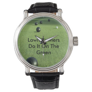 Lawn Bowlers Do It On The Green,_ Wrist Watch