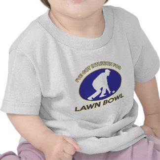 Lawn bowling design tee shirt