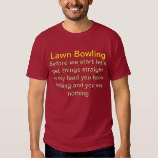 Lawn bowling t shirt. tee shirt