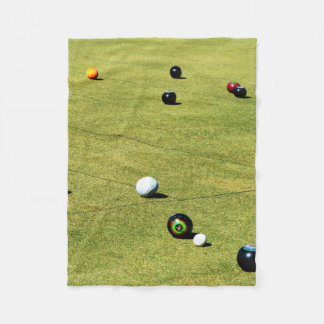 Lawn Bowls Action Game, Fleece Blanket