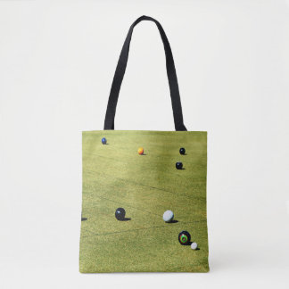 Lawn Bowls Action, Tote Bag