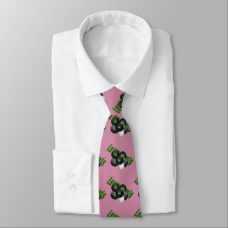 Lawn Bowls And Logo, DustyRose Unisex Silky Tie