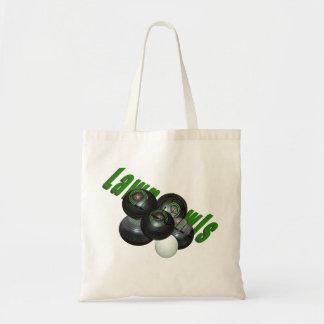 Lawn Bowls And Logo, Tote Bag