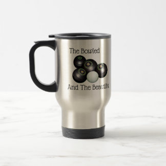 Lawn Bowls Bowled Beautiful Logo, Travel Mug