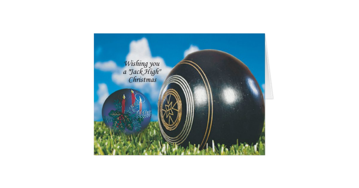 Lawn Bowls Christmas Card With Special Verse Zazzle Com Au