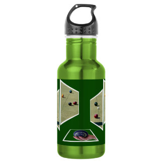 Lawn Bowls Dimensional Art, 532 Ml Water Bottle