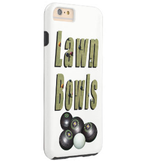 Lawn Bowls Dimensional Logo And Bowls, Tough iPhone 6 Plus Case