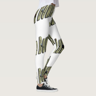 Lawn Bowls Dimensional Logo, Ladies White Leggings