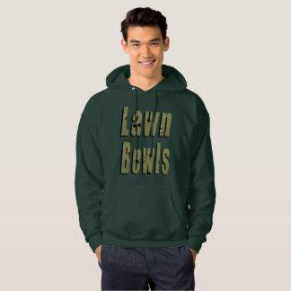 Lawn Bowls Dimensional Logo, Mens Green Hoodie