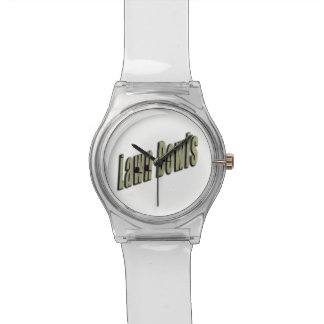 Lawn Bowls Dimensional Logo, White May Wrist Watch