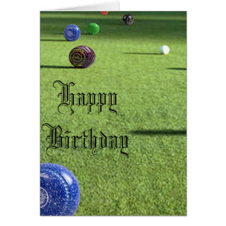 Lawn Bowls Happy Birthday, Card