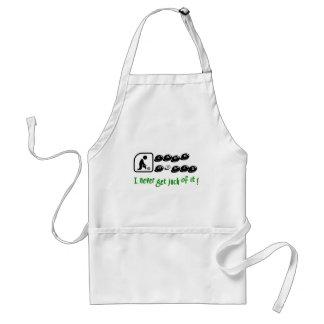Lawn Bowls -I Never Get Jack Of It! Standard Apron