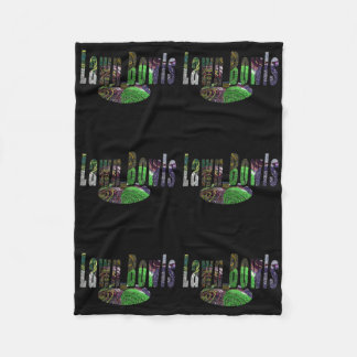 Lawn Bowls Image Logo On Black, Fleece Blanket