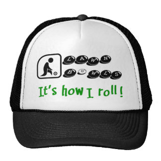 Lawn Bowls -It's How I Roll Mesh Hats