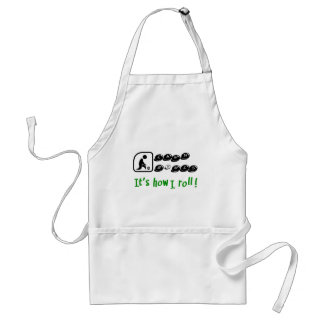 Lawn Bowls -It's How I Roll Standard Apron