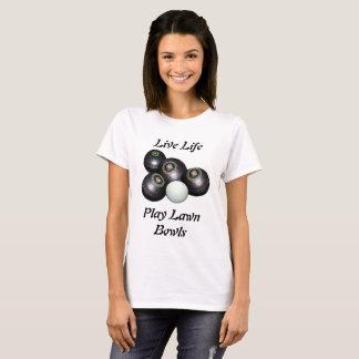 Lawn Bowls Live Life Logo, T-Shirt