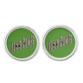 Lawn Bowls Logo On Green, Cufflinks