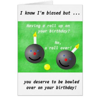 Lawn Bowls, Short mat bowls birthday card