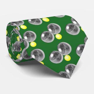 Lawn Bowls, Short mat bowls mens tie, green Tie