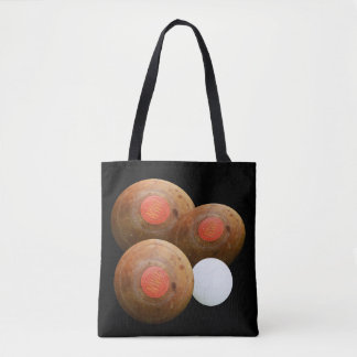 Lawn_Bowls,_Vintage_Brown,_Tote_Shopping_Bag Tote Bag