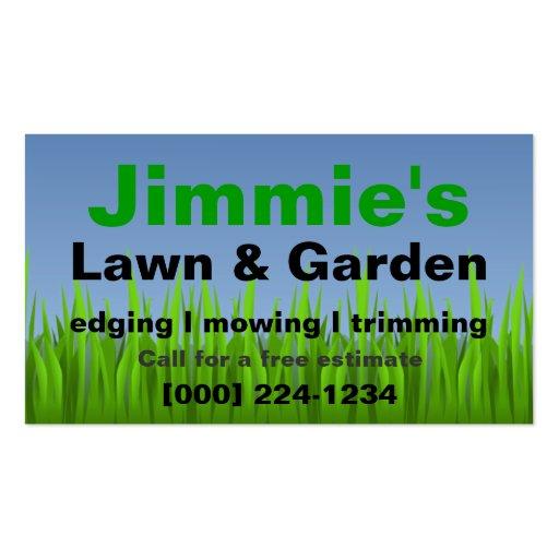 Lawn Care Business Card Zazzle Com Au