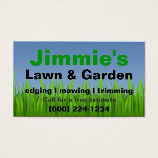 lawn care business card zazzlecomau