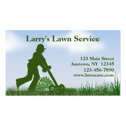 Lawn care business card zazzle for Garden maintenance business