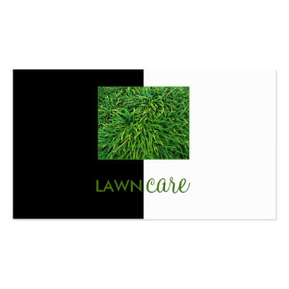 Lawn Care Cutting Grass Black Half White Card Pack Of Standard Business Cards