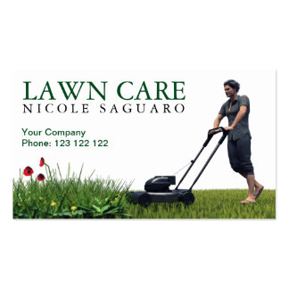 Lawn Care Grass Cutting Pack Of Standard Business Cards