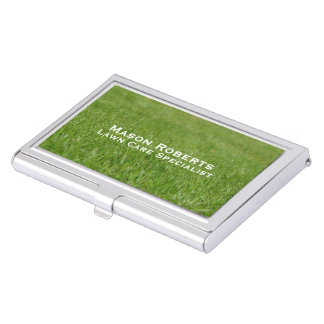Lawn Care Green Lawn Landscaping Business Card Holder