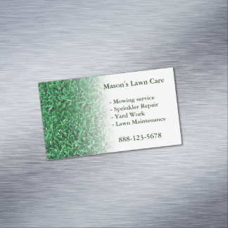 Lawn Care Landscaping Lawn Magnetic Business Card