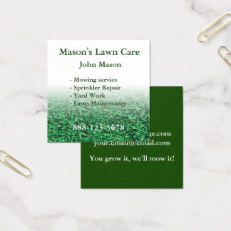 Lawn Care Landscaping Lawn Square Business Card