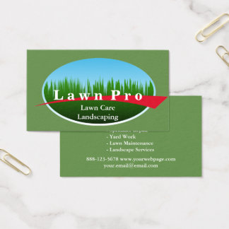 Lawn Care Landscaping Logo Business Card